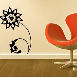 StickONmania - Flower Design #77 Sticker - A cool vinyl decal wall art decoration for your home  Decorate your home with original vinyl decals made to order in our shop located in the USA. We only use the best equipment and materials to guarantee the everlasting quality of each vinyl sticker. Our original wall art design stickers are easy to apply on most flat surfaces, including slightly textured walls, windows, mirrors, or any smooth surface. Some wall decals may come in multiple pieces due to the size of the design, different sizes of most of our vinyl stickers are available, please message us for a quote. Interior wall decor stickers come with a MATTE finish that is easier to remove from painted surfaces but Exterior stickers for cars,  bathrooms and refrigerators come with a stickier GLOSSY finish that can also be used for exterior purposes. We DO NOT recommend using glossy finish stickers on walls. All of our Vinyl wall decals are removable but not re-positionable, simply peel and stick, no glue or chemicals needed. Our decals always come with instructions and if you order from Houzz we will always add a small thank you gift.