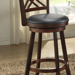 "ECI Furniture - ""Double X-Back 30"""" Swivel Pub Stool - Distressed Walnut - Set of 2"" - ""Stunning distressed walnut finish, 30"""" height double X-back swivel stool that is truly functional and will add style and class to your decor."