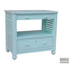 Tradewinds - Coastal Newport Desk and Chest, RiverWash Top with Grey - This Newport desk chest makes an ideal choice to be placed at any empty corner of your house. The key feature of this coastal style furniture is that its drawers can be pulled out to keep a keyboard. Also it has foot shelf to facilitate additional storage space.