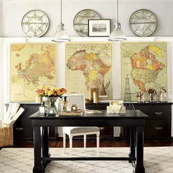 Ballard Designs - Suzanne Kasler Map Giclee - Who doesn't love a good map? Neutral with a touch of color, the look of these ones makes them perfect for the office.
