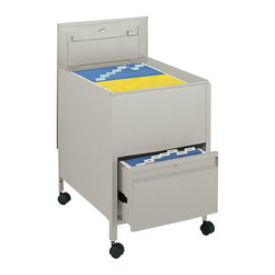 Safco - Safco Locking Mobile Legal Size Metal Tub File with 1 Drawer in Putty - Safco - Filing Cabinets - 5365PT - Give organizing the right push with a mobile filing system. The filing system is complete with a tub file on top and a full suspension bottom file drawer that provides additional filing and storage capacity. Both lid and file drawer lock (4 keys included). Durable steel construction holds up to heavy daily use. Top viewing design allows easy filing and retrieval of stored documents. Holds legal size hanging file folders (not included). Rolls easily to point of use on four swivel casters (two lock).