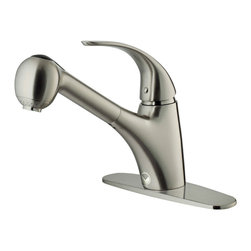 VIGO Industries - VIGO Stainless Steel Pull-Out Spray Kitchen Faucet with Deck Plate - Accent your kitchen by adding this stylish yet durable VIGO faucet