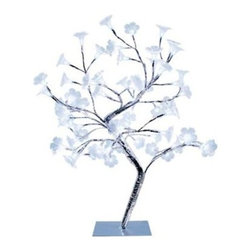 Simple Designs - Simple Designs 17.72 in. Morning Glory LED Lighted Silver Decorative Tree Lamp N - Shop for Lighting & Fans at The Home Depot. This fashionable lighted decorative tree, with its pretty morning glory look and small LED twinkle lights, will add style and tranquility to any room. Perfect for living rooms, bedrooms, or offices. Increases the decor of any room.