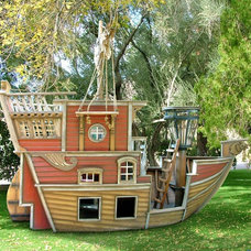 Eclectic Outdoor Playhouses by PoshTots