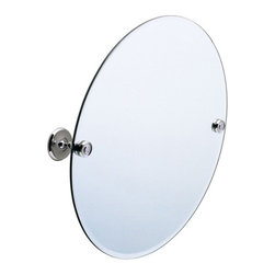 Villa Collection Oval Tilting Mirror - Pivot this classic oval mirror to the right angle for you. Its solid brass mounting hardware and beveled edges make this mirror fit perfectly with any bathroom decor.