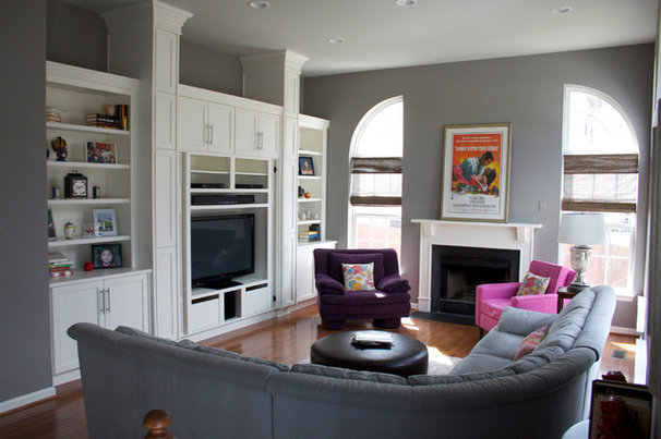 Contemporary Family Room by AFP Interiors LLC