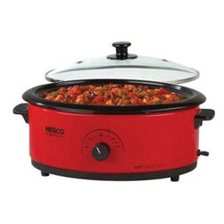 Metal Ware Corp. - Nesco 6qt Roaster Oven Red - Nesco 6qt.