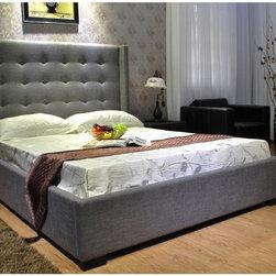 California King Fabric Platform Bed -