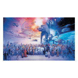 York Wallcoverings - Star Wars Saga Darth Vader Giant Wallpaper Accent Mural - Features: