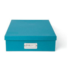 Bigso - Bigso Basix Letter Box - Turquoise, Set of 3 - Mix and match colors until your heart's content with our Basix Letter Boxes. With a stretch of your imagination, this turquoise A4 size box holds more than letter size documents. Think thank you notes, labels, stationery and all your favorite pretty papers. Metal label holder reminds you of what's stored inside.