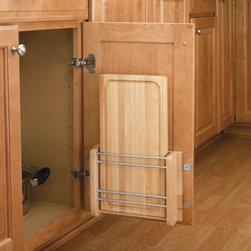 Door Storage Cutting Board Rack with Wood Cutting Board Sink & Base Accessories -