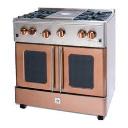 "BlueStar Infused Copper 36"" Gas Range - Infused Copper 36"" Gas Range-part of the Precious Metal Collection"