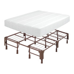 Comfort Memories - Comfort Memories Steel Queen-size Mattress Foundation - Comfort Memories mattress foundation is the complete mattress support system that replaces the frame and foundation. Constructed of 100-percent steel,this piece will raise your bed 14 inches off the ground. Assembles in minutes with no tools required.