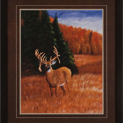 Paragon Decor - You Made My Day Artwork - A solitary deer anchors an autumn landscape.