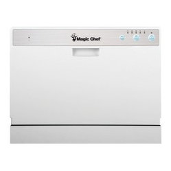 MAGIC CHEF - MAGIC CHEF MCSCD6W1 Countertop Dishwasher - - Holds 6 place settings;