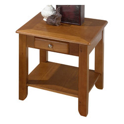 Jofran - Jofran 480-3 Sedona Oak End Table - The simplicity and elegance, style and practicality - these are the main theses of occasional tables by Jofran inc. Among the great variety of collections you can choose the one that best suits your apartment, and that is to your liking. This Sedona oak 22X24 end table belongs to 480 series - Sedona oak collection by Jofran inc. The classic formulas of color combinations are not valid in Jofran furniture territory: Here is ruled by laws solely of your own preferences and fantasies. Huge selection of colors in combination with a wide choice of shapes and sizes allow you to find among this variety precisely the furniture you've always wanted to see in your home. Jofran furniture offers high quality, casual furniture pieces that are constructed from premium Asian hardwoods, and finished with beautiful veneers. Durable materials and quality assembly will help your furniture to serve for many years and will not let you be disappointed in your choice.