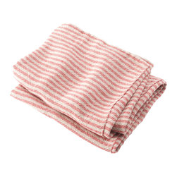Brahms Mount - USA Made Brahms Mount Linen Bath Towel, Natural/Red, Body - Elevate the everyday. Treat yourself to the incomparably smooth hand, durability and super-absorbency of our pure linen bath and kitchen towels. Made in Maine, USA since 1983