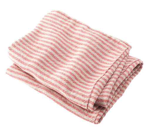 Brahms Mount - Brahms Mount Linen Body Bath Towel, Natural/Red - Elevate the everyday. Treat yourself to the incomparably smooth hand, durability and super-absorbency of our pure linen bath and kitchen towels. Made in Maine, USA since 1983