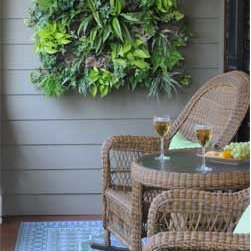 Living Walls Planted in Groups - Plant them alone or in huge, dramatic groups. Multiples are hung side by side, so a group of four looks like one planter.