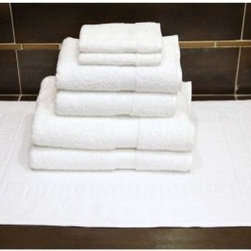 Luxury Hotel & Spa 100% Turkish Cotton 7 pc. Combination including Greek Key Bat - Plush, thirsty, and handsome. The Luxury Hotel & Spa 100% Turkish Cotton 7 pc. Combination including Greek Key Bath Mat makes a fantastic gift idea! These towels are made of plush, 100% genuine Turkish cotton. Soft to the touch from the start, they just get softer after each wash. These towels feature a double-stitch edge, natural dobby weave, and come with a Greek key bath mat