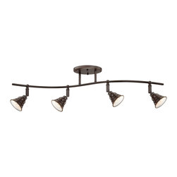 Quoizel - Quoizel EVE1404PN Eastvale Ceiling Track Light - The Eastvale series pairs a vintage industrial look with modern sensibility. Attention to fine details and a rich Palladian Bronze finish allow this distinctive fixture suit a variety of interior design styles.