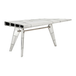 Eichholtz Oroa - Desk Convair, Polished Aluminum - Polished aluminum