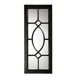Home Decorators Collection - Daytona Wall Mirror - The Daytona Wall Mirror is a transitional mirror featuring a large rectangular frame with a lovely window pane design right over the glass of the mirror. It's finished in a custom-painted rich lacquer. Crafted of resin and beveled mirrored glass. Available in a variety of colors.