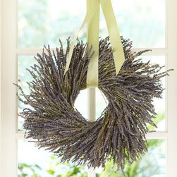 Dried Lavender Wreath - Elegant and sweet-smelling, this wreath would work for a bathroom or kitchen.