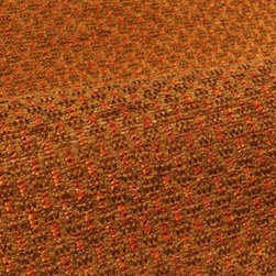 Enya Upholstery in Persimmon - Enya Upholstery Fabric in Persimmon Orange Textured Weave Cotton Blend ideal for upholstering sofas, chairs, benches, and other furniture, or pillows.
