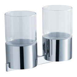 Kraus - Kraus Aura Bathroom Accessories - Wall-mounted Double Glass Tumbler Holder - *Kraus  is the premier manufacturer and designer of the bath fixtures and accessories, offering top of the line products that showcase a deft blending of breakthrough technology and aesthetic ardor