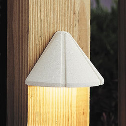 LANDSCAPE - LANDSCAPE 15765WHT 12V LED Mini Outdoor Deck Light - Versatile mini size and simple styling for multiple applications with the added benefit of LED technology. Illumination provided by integrated 1.9-W LED.