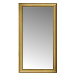 """Posters 2 Prints, LLC - 34"""" x 60"""" Arqadia Gold Traditional Custom Framed Mirror - 34"""" x 60"""" Custom Framed Mirror made by Posters 2 Prints. Standard glass with unrivaled selection of crafted mirror frames.  Protected with category II safety backing to keep glass fragments together should the mirror be accidentally broken.  Safe arrival guaranteed.  Made in the United States of America"""
