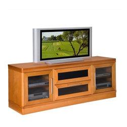 "Furnitech - 70"" Transitional TV Media Console - 70"" Transitional TV Media Console for Flat Screen and Audio Video Installations."