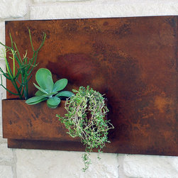 """20"""" x 30"""" Wall Planter - Living art. This modern wall planter adds flair and style to vertical gardening, indoors and out. Hang several on a wall for dramatic impact, or let it stand alone. Looks particularly great with succulents!"""