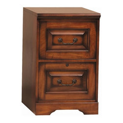 Winners Only - Country Cherry File Cabinet w 2 Drawers - Cabinets mounted on ball bearings. Letter and legal file cabinet. Country cherry finish. 18.5 in. W x 22 in. D x 30 in. H