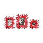 Uttermost - Red Coral Photo Frames Set of 3 - These photo frames feature a dynamic, bright red finish.