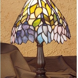 Meyda Tiffany - Meyda Tiffany 27294 Stained Glass / Tiffany Accent Table Lamp Classic W - *Copperfoil CollectionMini Lamp1 Candelabra bulb, 40w (max) (not included)