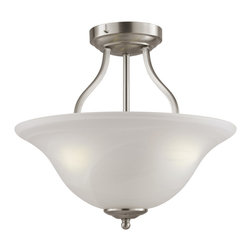 Trans Globe - Trans Globe PL-10004 BN 3-Light Semi Flush Mount - Trans Globe PL-10004 BN 3-Light Semi Flush Mount