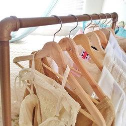 Vintage Gold Garment Racks -