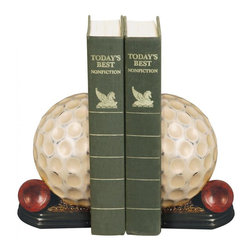 Sterling Industries - Pair Tee Time Bookends - Pair Tee Time Bookends