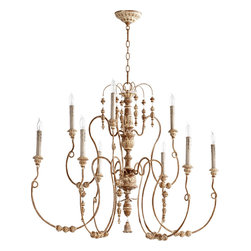 "Quorum International - Quorum 6206-9-94 Salento 40""/9Lt Chandelier -Fru - Quorum 6206-9-94 Salento 40""/9LT Chandelier -Fru"