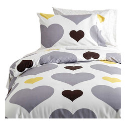 Dormify - Love Me Or Leave Me - Twin XL Duvet/Sham Set - Boring duvet set putting you to sleep? This modern, stylish set comes with one duvet cover and a standard sham, is machine washable and is made of 100% cotton sateen.