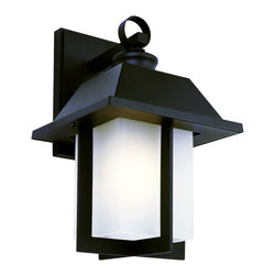 "Trans Globe Lighting - Trans Globe Lighting 40111 BK Pagoda Cap 12"" Wall Light - East meets West with this garden landscape and entry collection. Add all matching accent lighting for the whole home. Pair with ledge stone sided porch areas and homes for stunning ambience."