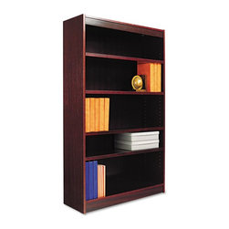 Alera - Alera BCS56036MY Square Corner Wood Veneer Bookcase - Mahogany Brown - ALEBCS560 - Shop for Bookcases from Hayneedle.com! About AleraWith the goal of meeting the needs of all offices -- big or small casual or serious -- Alera offers an excellent line of furnishings that you'll love to see Monday through Friday. Alera is committed to quality innovative design precision styling and premium ergonomics ensuring consistent satisfaction.