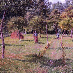"Camille Pissarro Enclosed Field at Eragny - 16"" x 20"" Premium Archival Print - 16"" x 20"" Camille Pissarro Enclosed Field at Eragny premium archival print reproduced to meet museum quality standards. Our museum quality archival prints are produced using high-precision print technology for a more accurate reproduction printed on high quality, heavyweight matte presentation paper with fade-resistant, archival inks. Our progressive business model allows us to offer works of art to you at the best wholesale pricing, significantly less than art gallery prices, affordable to all. This line of artwork is produced with extra white border space (if you choose to have it framed, for your framer to work with to frame properly or utilize a larger mat and/or frame).  We present a comprehensive collection of exceptional art reproductions byCamille Pissarro."