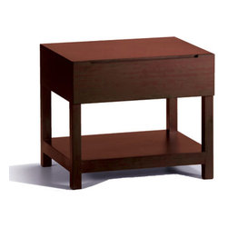 Brandt Nightstand - Small things out in the open create clutter. Influenced by the mid-century modern design sensibility, the Brandt collection lets you store away extra clothes and linens in a stylish space. Crafted out of bamboo, this piece is durable and eco-friendly.