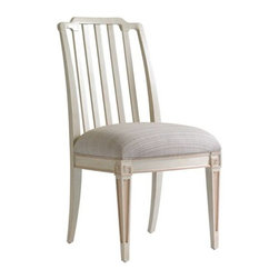 Stanley Furniture - Preserve-Marshall Side Chair - The Chinese Chippendale motif and upholstered seat of a Marshall Arm Chair encourage lively conversation and lingering long after the meal.