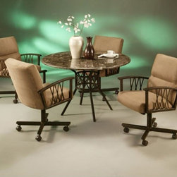 Pastel Furniture - Ravenwood 5 Piece Dining Table Set in Autumn Rust - RW510-850 - Set includes Dining Table and 4 Chairs