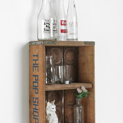 Vintage Pop Shop Shelf from Urban Outfitters - Love these cool vintage crate shelves!