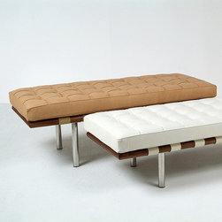 Modern Classics - Mies van der Rohe: Exhibition Bench: Barcelona 2-seater Bench Reproduction - Features: